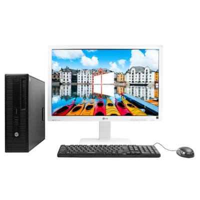 "HP 800 G1 SFF 4x ЯДЕРНЫЙ CORE I5 4570 8GB DDR3 500GB HDD + 24"" Монітор"